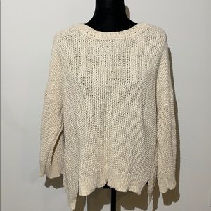 Eileen Fisher cable knit oversized sand